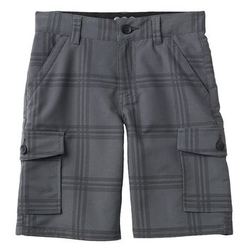Tony Hawk Plaid Cargo Shorts - Boys