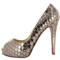 POSEIDON SEQUINS PEEP TOE PUMPS by highonheels on Sense of Fashion