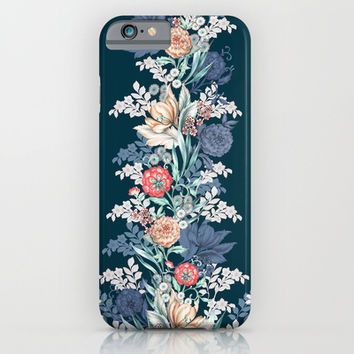Pained Floral Placement iPhone & iPod Case by Gemma Hodgson Design