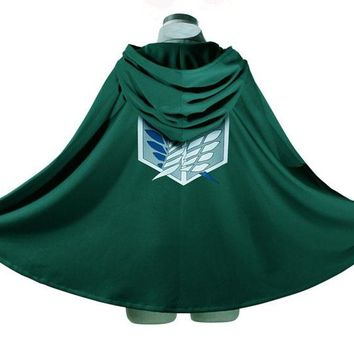 Novelty Anime Shingeki Kyojin Cloak Clothes Unisex Coser Cloak Cartoon Costumes Cosplay Attack Titan Oversize
