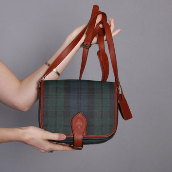 90s Plaid RALPH LAUREN PURSE / 1990s Polo Tartan Flap Purse New Unused