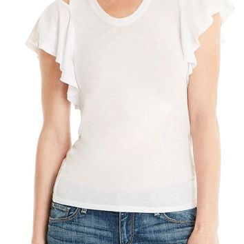 Michael Stars Cutout Shoulder U-Neck Tee | Nordstrom