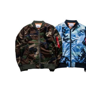 Fashion thin jacket Mens Hiphop Street Swag Hoodies Bomber Jacket Ma1 Camouflage Brand Style Clothing Quality Military Coat