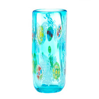 Blue Glass Cylinder Vase