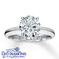 The Leo Diamond 2 Carat Solitaire 14K White Gold Ring