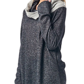 Charcoal Turtleneck Tunic