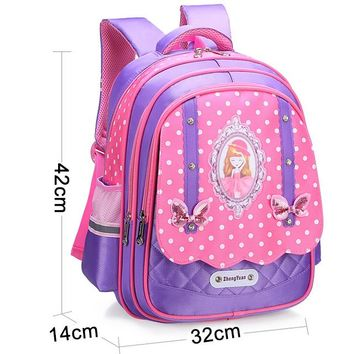 Toddler Backpack class 2018 Cute Backpack Schoolbag For Girls Bowknot  For Girls 1-3-6 Grade Sweet Princess Style Backpack Schoolbag AT_50_3