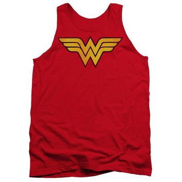 LMFDP2 Wonder Woman Logo Dist Adult Tank