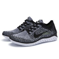 Trendsetter NIKE Free Flyknit Women Men Running Sport Casual Shoes Sneakers