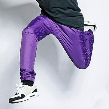 Men Hiphop Jogger Pants Street Dance Pants New 2017 Smooth Handfeel Meshed Lining Mens Bboy Joggers Drawstring Elastic Waist