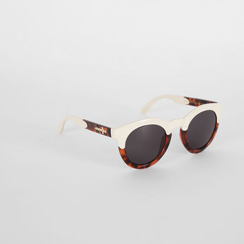 Crap Eyewear The T.V Eye Tortoise and Cream Sunglasses - Everything - Categories - Womens