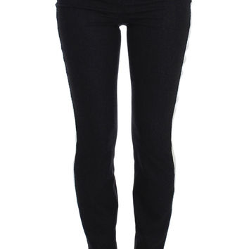 Dolce & Gabbana Gray Wool Stretch High Waist Pants