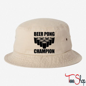 Beer Pong Champion bucket hat