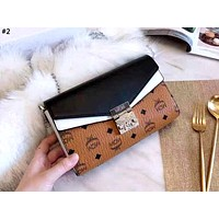 MCM 2019 new personality wild female color matching color shoulder slung chain bag #2