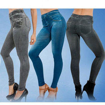 Jeans Leggings Women Leggings Jeggings Real Pockets Slim Jeggings Skinny Legging Pants