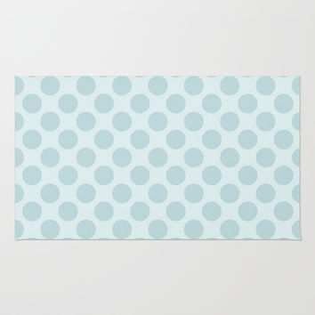 Pale Blue Polka Dots  Rug by KCavender Designs