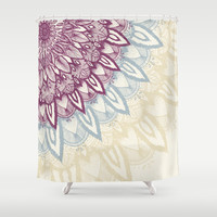 Mandala Love Shower Curtain by Rskinner1122
