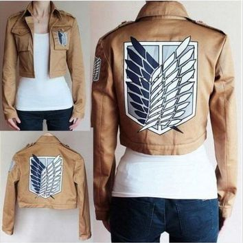 Cool Attack on Titan    Jacket no  Scouting Legion Cosplay Costume Embroidery Jacket Coat AT_90_11
