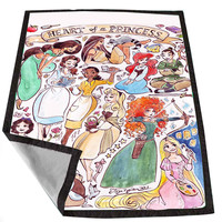 Heart of a Princess Disney b3f2e4ea-31db-4ef5-9a8c-7fe3fd870d22 for Kids Blanket, Fleece Blanket Cute and Awesome Blanket for your bedding, Blanket fleece *02*