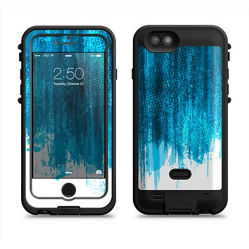 The Brushed Vivid Blue & White Background Apple iPhone 6/6s LifeProof Fre POWER Case Skin Set