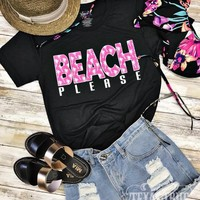 Beach Please Graphic Tee (S-XL)