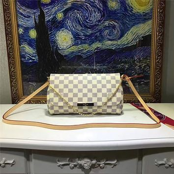 LV Louis Vuitton WOMEN'S MONOGRAM LEATHER CHAIN HANDBAG SHOULDER BAG