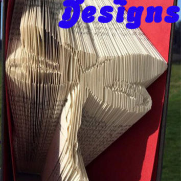 Folded Book Art Pattern Dragonfly 1 Folded Book Art PATTERN