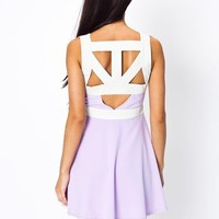 cut-out-two-tone-dress AQUABONE LVDRBONE - GoJane.com