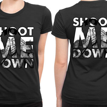 Lil Wayne Shoot Me Down Mask 2 Sided Womens T Shirt