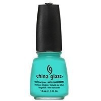 China Glaze Nail Laquer with Hardeners-Electro Pop Collection Aquadelic (Quantity of 4)