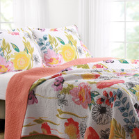 Melon Floral Quilt Cover Set