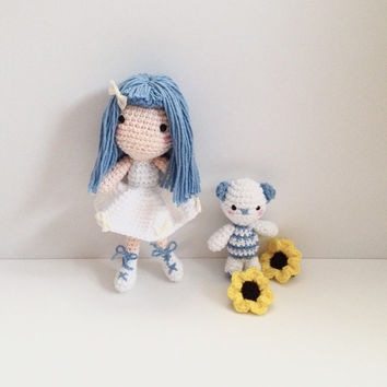 Amigurumi Doll Amigurumi Bear Crochet Bear Crochet Doll Crochet Toy Plush Kids Toy Kawaii Doll Handmade Toy Gift Ideas