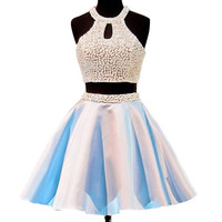 Two Piece Alter Homecoming Dress