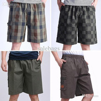 Men summer beach clothing loose cotton running shorts sports home Young middle-aged short bermudas Free shipping WR0001 salebags