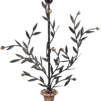 Metal Laurel Leaf Lamp