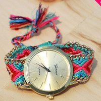 Flora Friendship Handmade Bracelet Watch