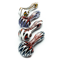 Colorful Glass Wig Wag Spoon Pipe by Grav Labs - 4 Inches - Assorted Colors