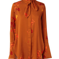 Ride Lonesome Tie Neck Blouse