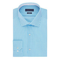 Perry Ellis Premium Slim-Fit Spread-Collar Dress Shirt - Bermuda
