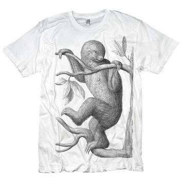 Tshirt of Extinct Sloth Animal Creature by diatonic on Etsy