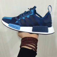 SUMMER11 ADIDAS NMD Women Running Sport Casual Shoes Sneakers camouflage Blue black line