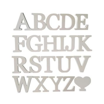 hot diy wall stickers 3d sticker wedding gift fashion decoration love White wood letters decorative Alphabet wall decor