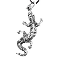 Crawling Lizard - Pendant Necklace