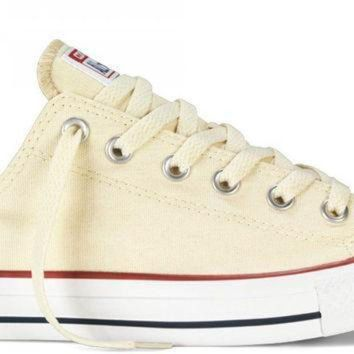 CREYON converse chuck taylor all star low top unbleached white