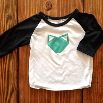 The Fox Shirt, Toddler t-shirt, Trendy kids clothes, Hipster kids clothes, Child shirt, Screen Printed Shirts, Graphic Tee, Kids Tank