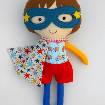 Fabric doll, superhero, cloth doll, rag doll, dolls, softdolls, superhero doll, soft toy, toys, imaginativ play toy, gender neutral toys