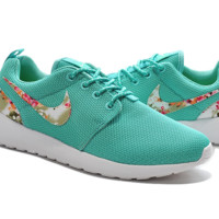 """""""NIKE"""" Trending Fashion Casual Sports Shoes Green  Floral"""