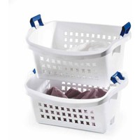 Rubbermaid 1.6 BU Stack-n-Sort Laundry Basket, White (1 Piece) - Walmart.com