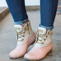 Sperry - Saltwater Duck Boot - Rose/Oat