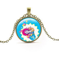 NEW ARRIVAL SHOPKINS TOY PENDANT NECKLACE CHOKERS CUTE STYLE KAWAII LETTER PATTERN NECKLACE FOR GIRL GIFTS CARTOON ANIME JEWELRY